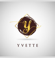 simple elegance initial letter y gold logo type vector image vector image
