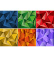 six seamless background design with triangle vector image vector image
