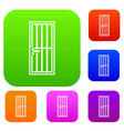 steel door set collection vector image