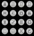 steel texture buttons vector image vector image