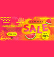 summer sale banner hot season discount poster vector image vector image