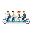 teamwork concept business people or students vector image vector image