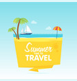 time to travel summer vacation flat background vector image vector image