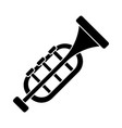 trumpet - horn icon black vector image vector image