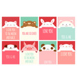 valentine banner with cute animals vector image vector image
