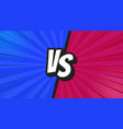 versus vs letters fight backgrounds in flat vector image vector image