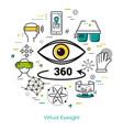 virtual eyesight - line art vector image vector image