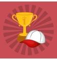 winner cup trophy vector image