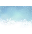 winter blue sky background with snow vector image vector image