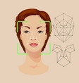 woman face with lines and dots for identity vector image