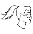 woman head witn sunglasses vector image vector image