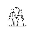 young couple in love man and woman marriage vector image vector image