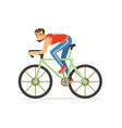 young cyclist man take part in bicycle racing vector image