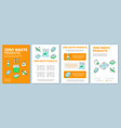 zero waste products brochure template layout vector image vector image