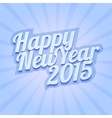 Happy New Year 2015 on blue background vector image