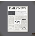 The newspaper with a headline Daily News vector image