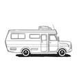 camping caravan motorhome amper car black and vector image