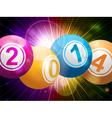 2014 bingo lottery balls on starburst vector image vector image
