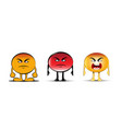 angry emoji collection vector image vector image