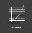 arrow chart curve experience goal icon glyph vector image vector image