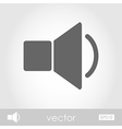 Audio speaker volume icon vector image