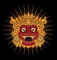 balinese barong mask vector image