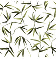 bamboo chaotic seamless pattern on white vector image vector image