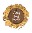 banner with wooden board template and vector image