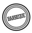 barbeque stamp in french vector image vector image