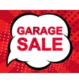 Big winter sale poster with GARAGE SALE text vector image vector image