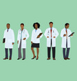 black doctors vector image vector image