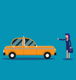 businesswoman calling taxi concept business taxi vector image