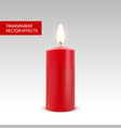 candle wax isolated decoration candlelight vector image vector image