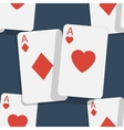 Casino poker seamless background vector image