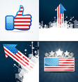 collection of american flag background vector image