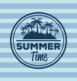 colorful stripe background with logo summer time vector image