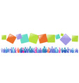 colourful success business people silhouette vector image