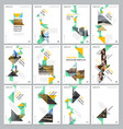creative brochure templates with colorful triangle vector image vector image