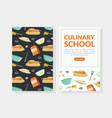 culinary school landing page cooking recipe vector image vector image