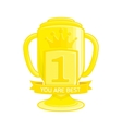 cup winner vector image