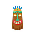 decorated mystical african mask with toothy smile vector image vector image
