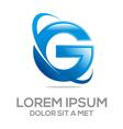 design global letter g vector image