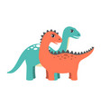 diplodocus and dinosaur set vector image