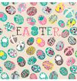 Doodle Easter Background Pattern vector image vector image