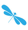 Dragon-fly silhouette cartoon graphic