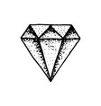 fashion diamond tattoo for girls crystal vector image vector image