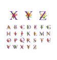 floral alphabet initial design
