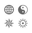 four nice sign icons eternal essence vector image vector image