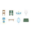 furniture and interior icons in set collection for vector image vector image