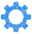gear grunge icon vector image vector image